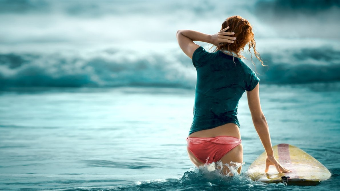 Girls Surfing Wallpapers